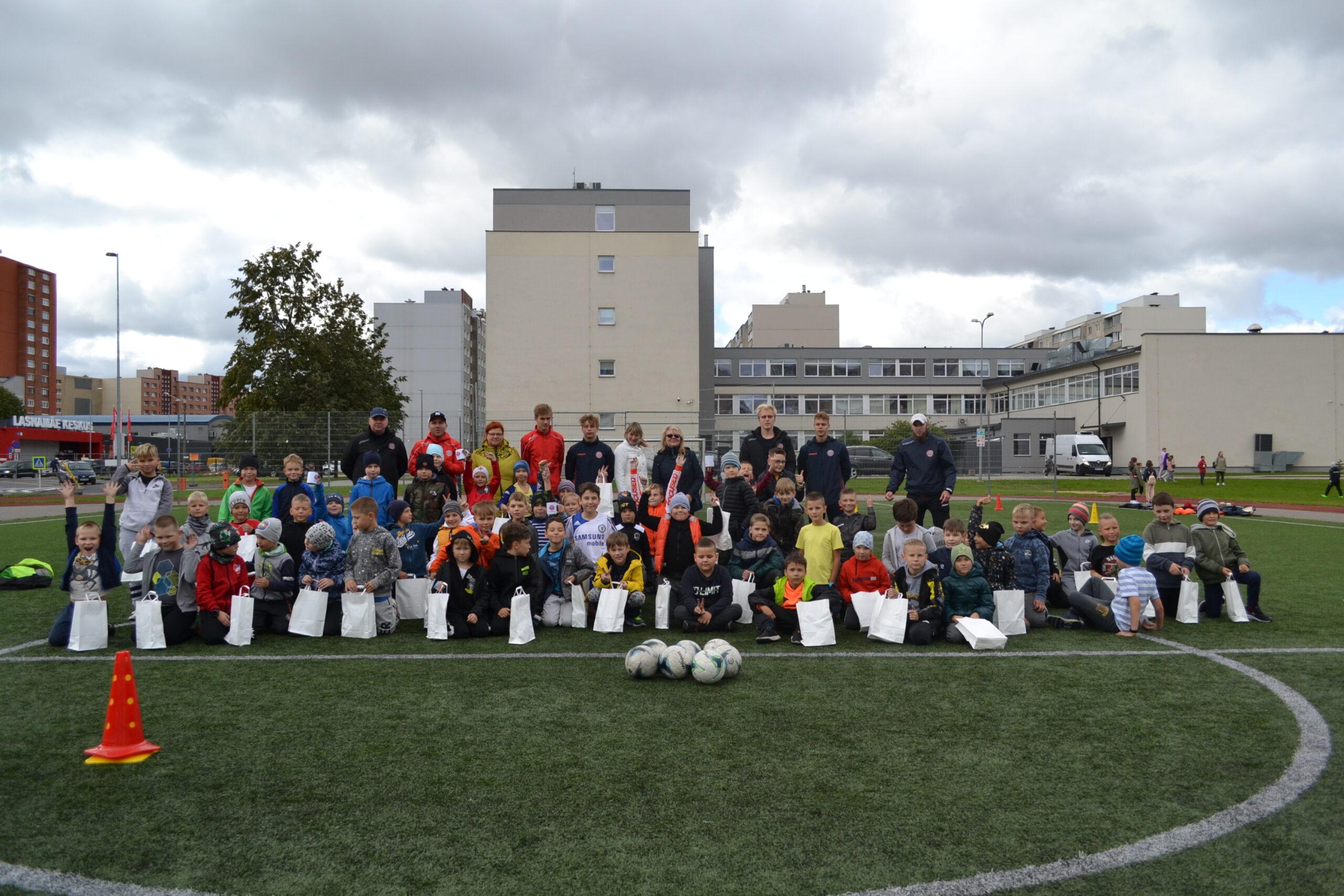 Спортивный день в Lasnamäe Gümnaasium
